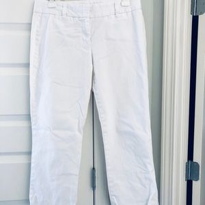 J crew city fit ankle pants  stretch white size 6
